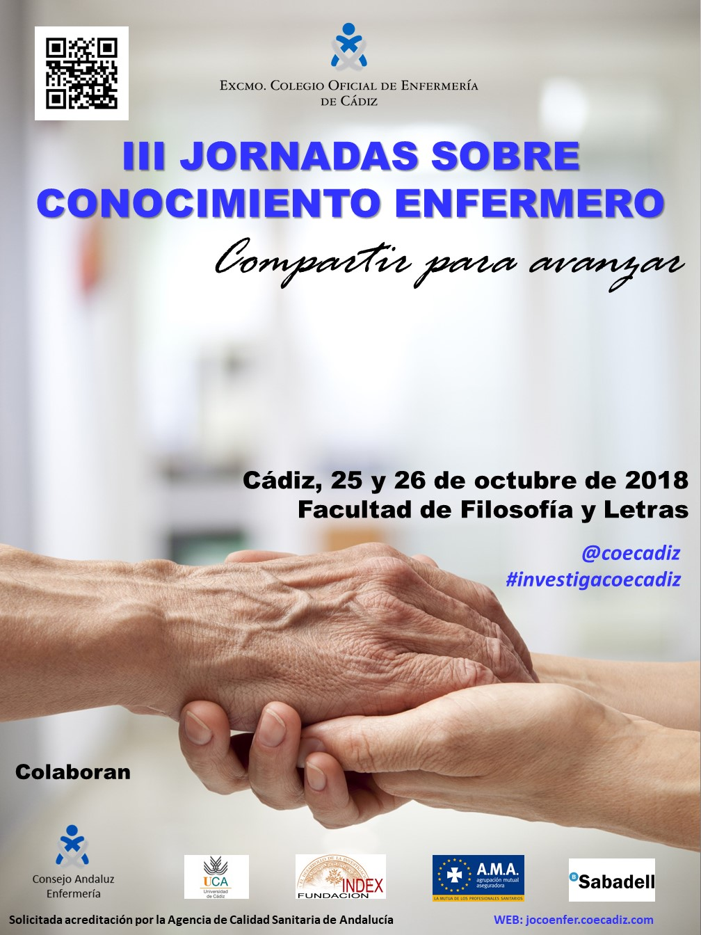 Abierta la inscripción para asistir a las III Jornadas sobre Conocimiento Enfermero y a los tres talleres previos